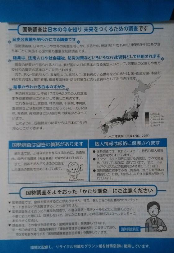 国勢調査封筒(裏)